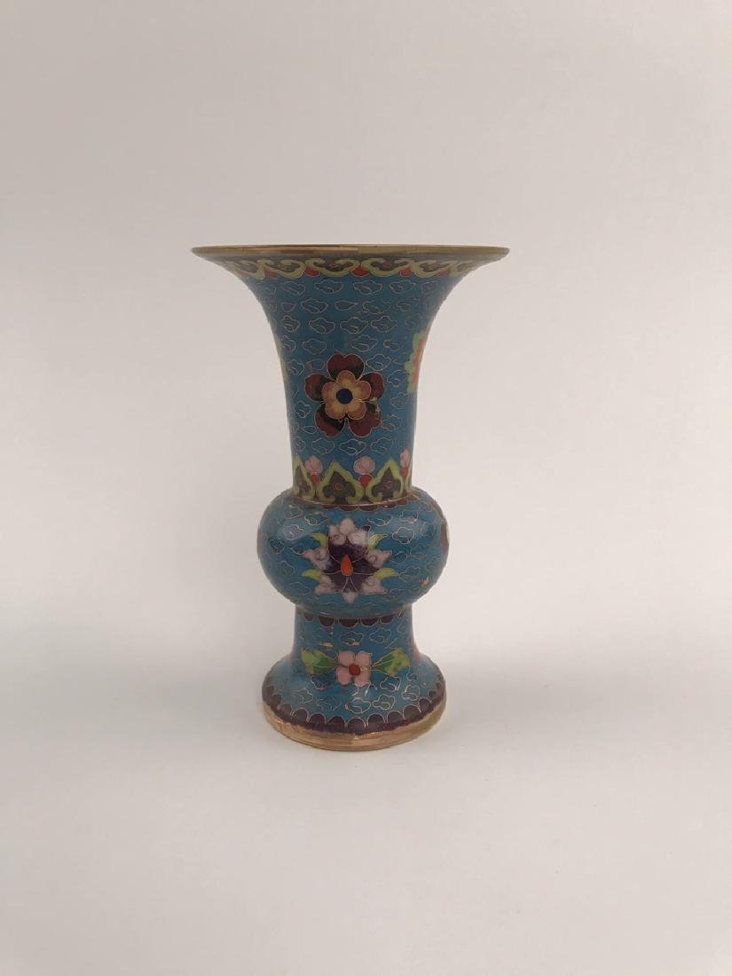 Chinese Closionne and Porcelain Vase - 6