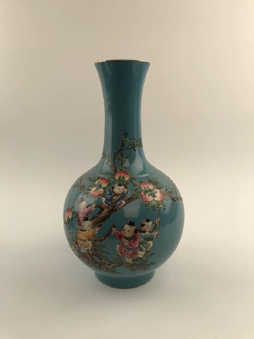 Fine Chinese Children on Peach Tree Vase