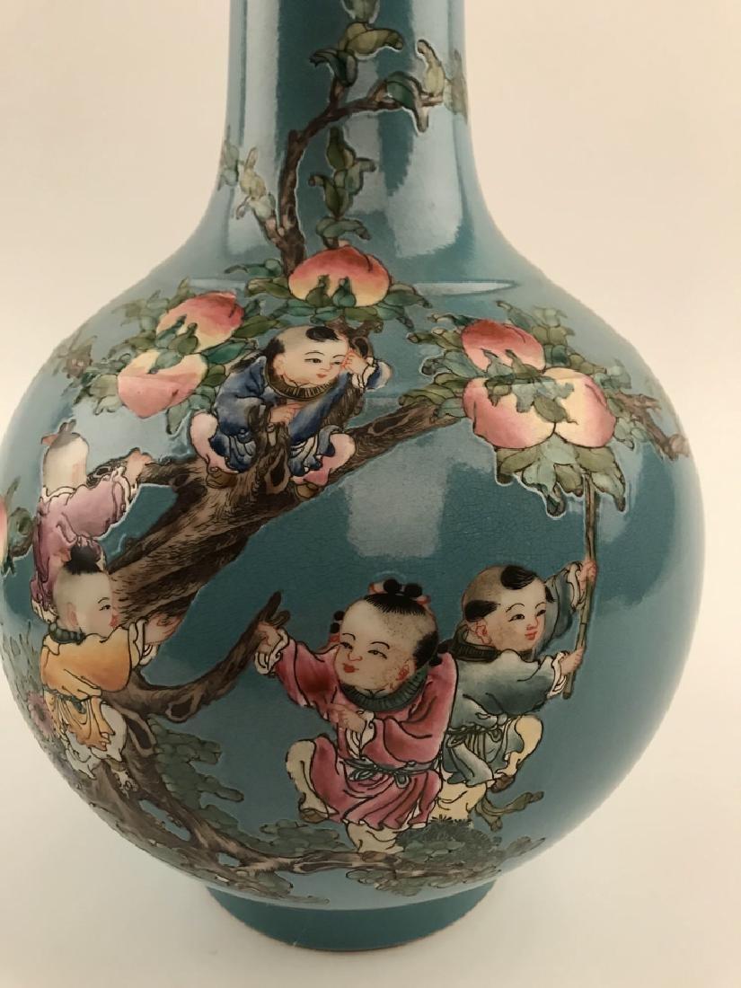 Fine Chinese Children on Peach Tree Vase - 2