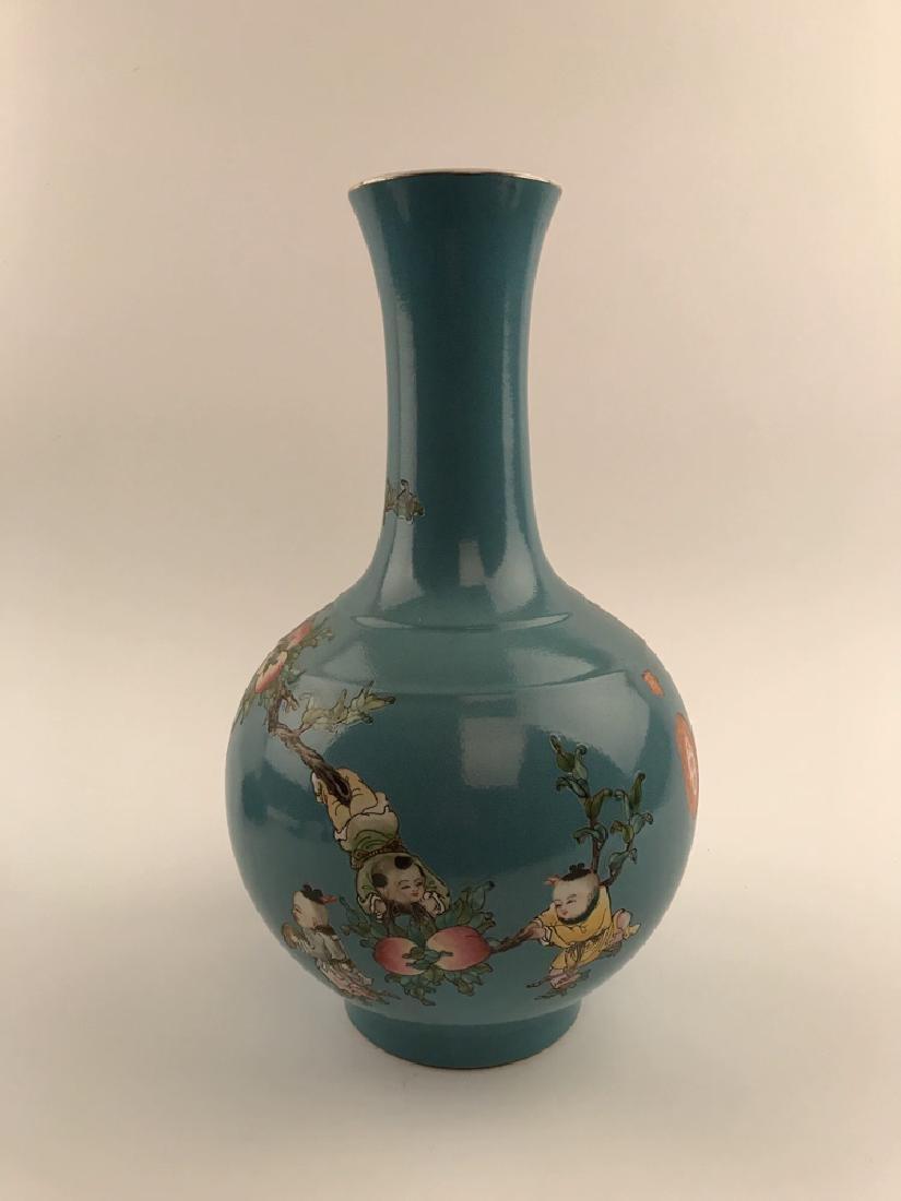 Fine Chinese Children on Peach Tree Vase - 4