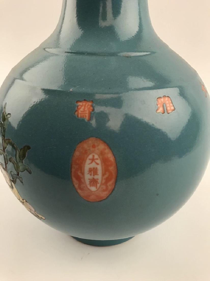 Fine Chinese Children on Peach Tree Vase - 5