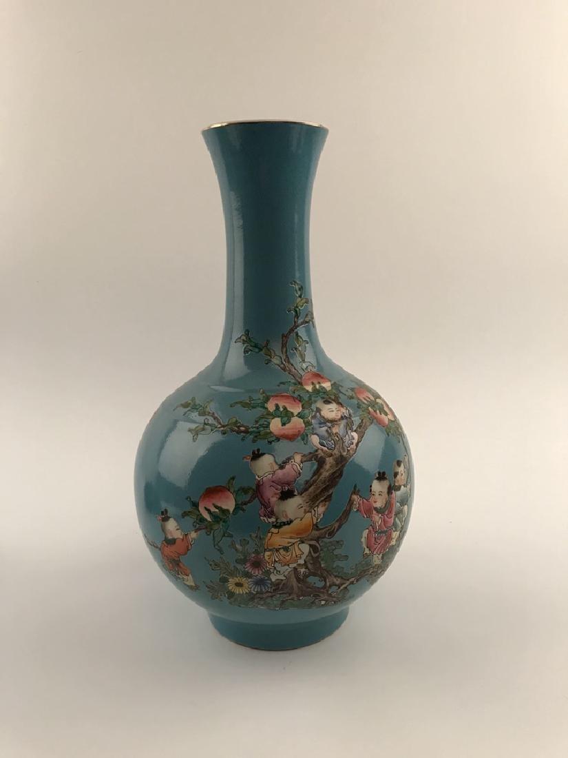 Fine Chinese Children on Peach Tree Vase - 7