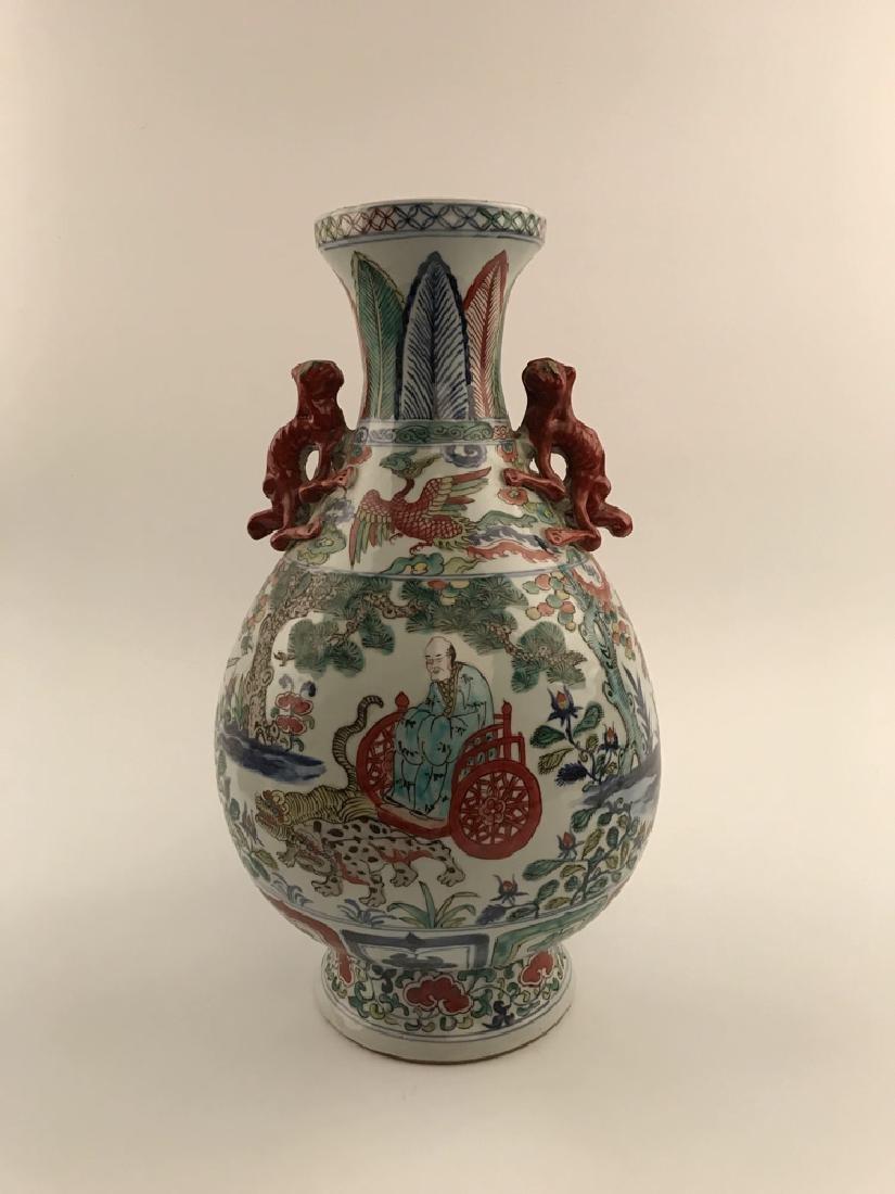 Chinese Wucai Vase - 4