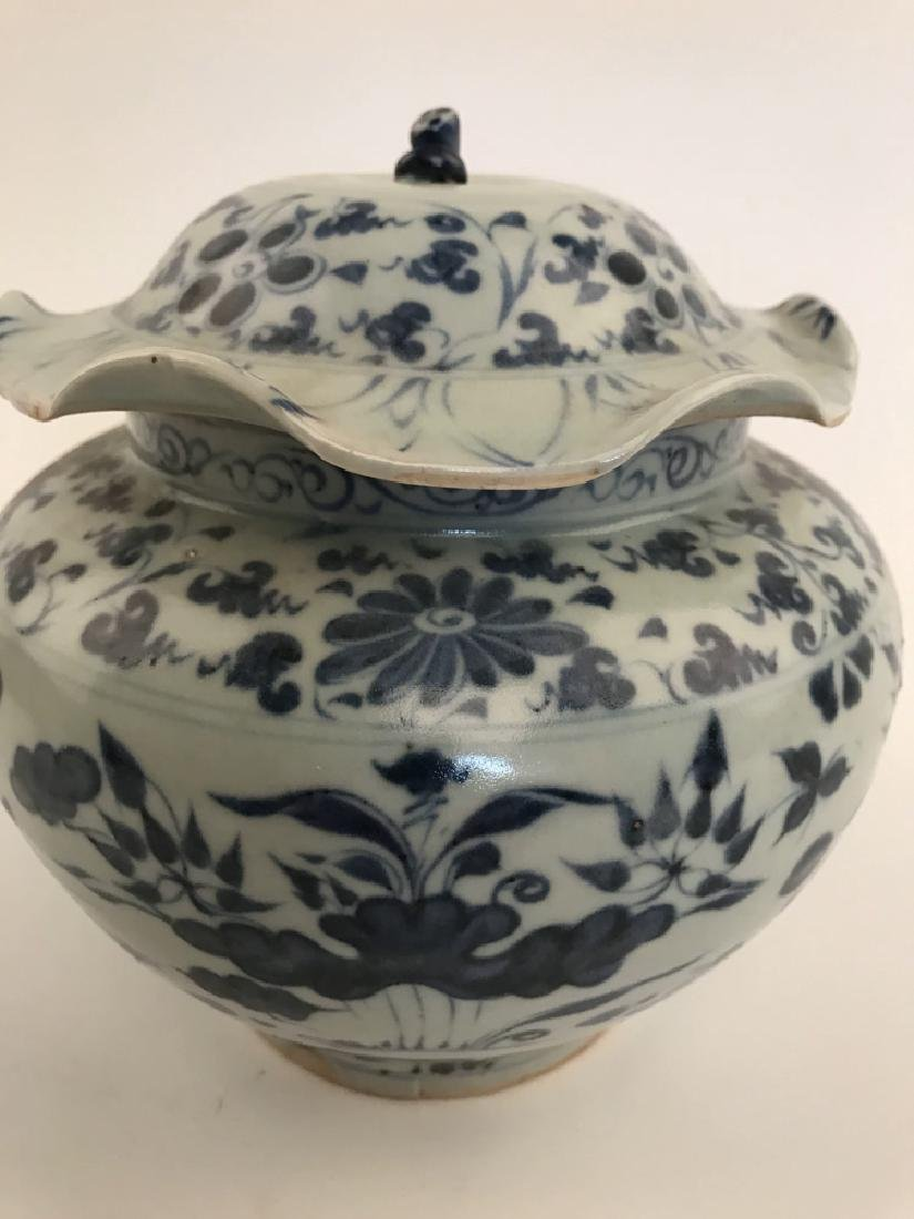 Fine Chinese Yuan Blue and White Jar - 3