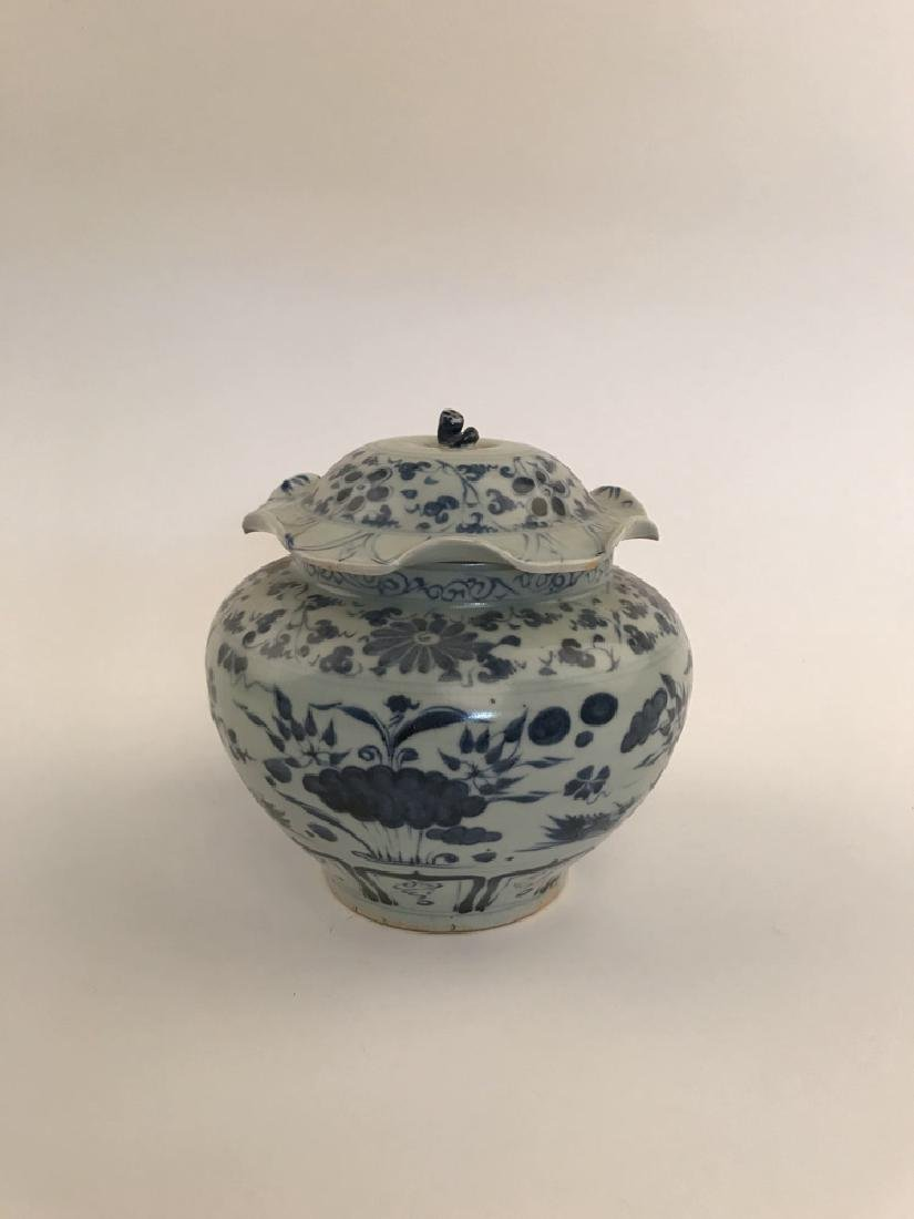 Fine Chinese Yuan Blue and White Jar - 5