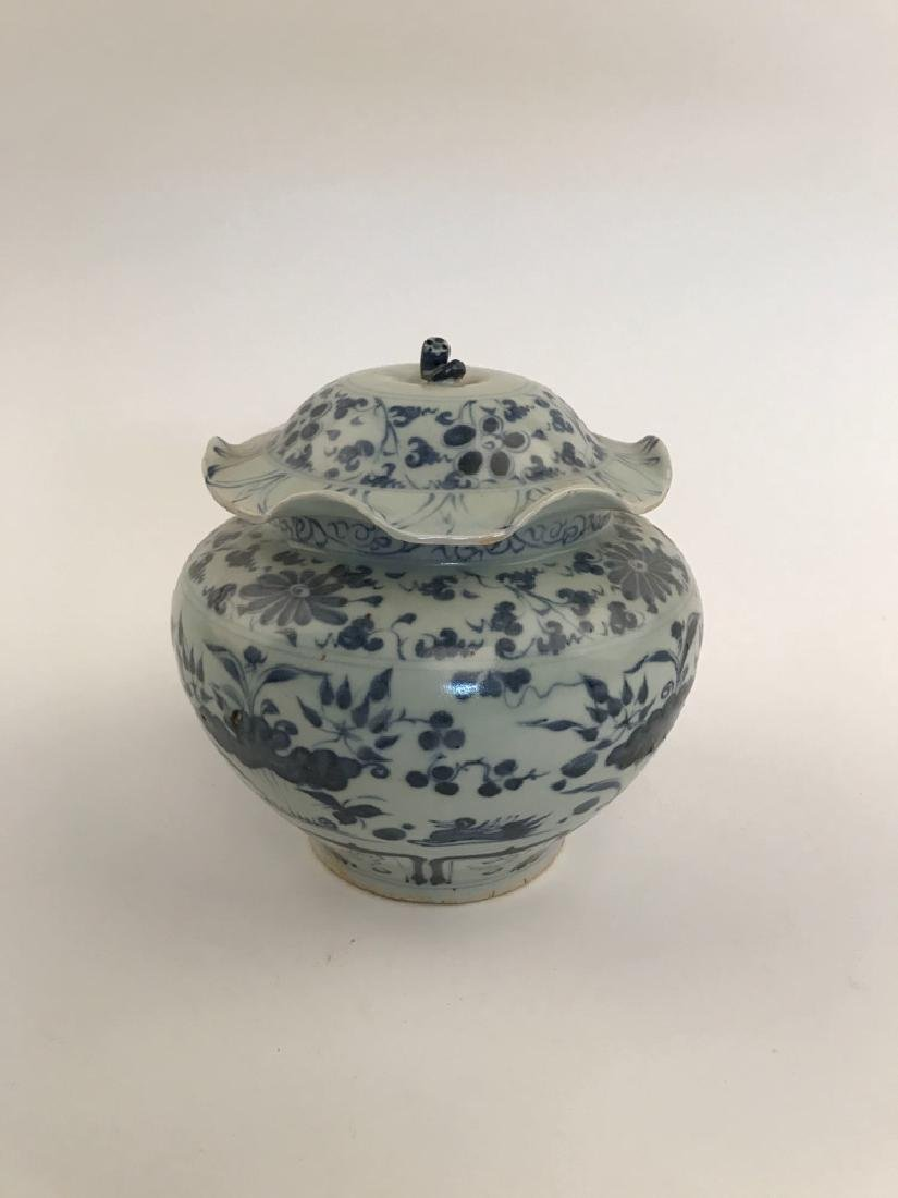 Fine Chinese Yuan Blue and White Jar - 8