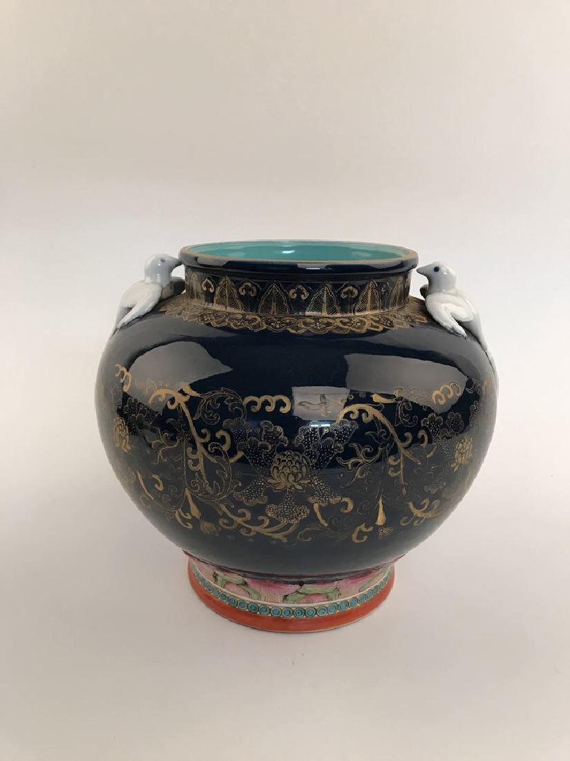 Fine Famille Rose and Gilt Jar with QIanlong Mark - 5