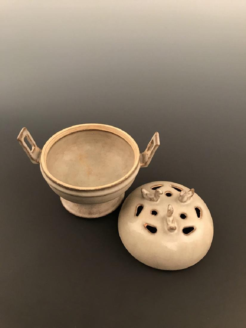 Chinese Celadon Glazed Censer - 5