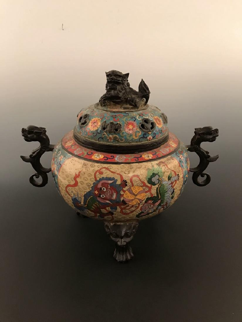 Chinese Antique Closionne Censer