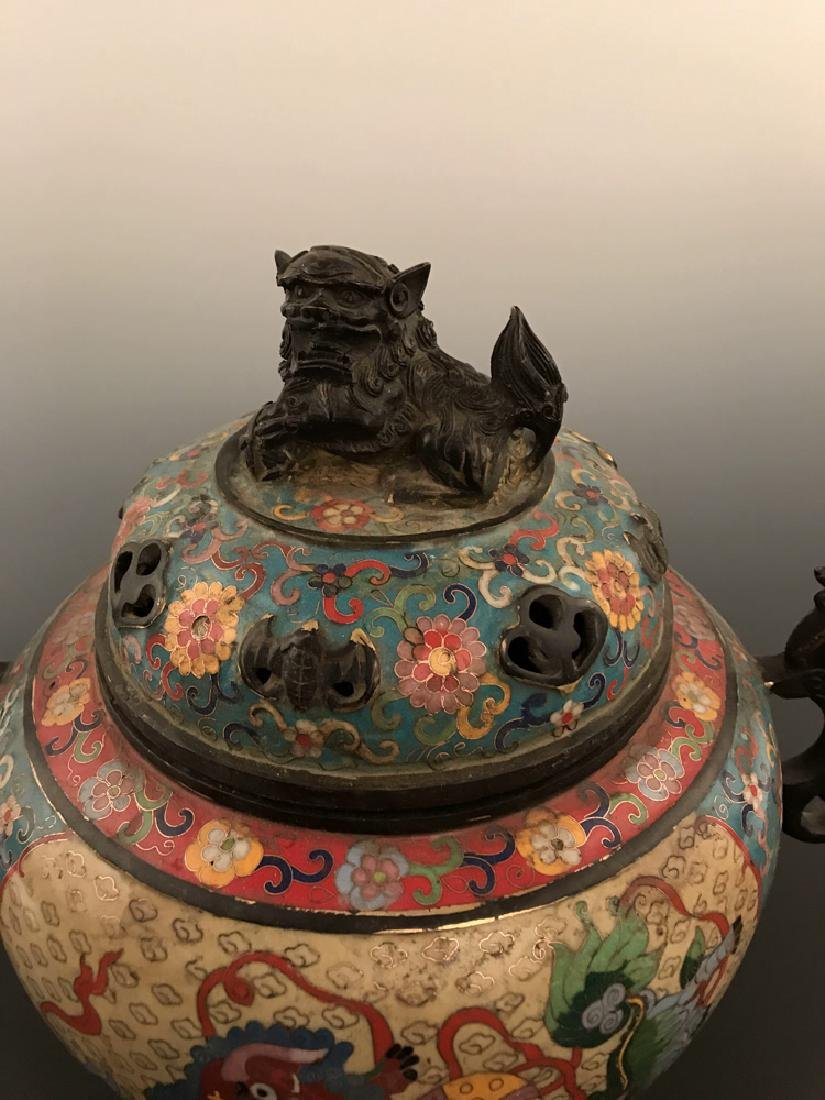 Chinese Antique Closionne Censer - 2