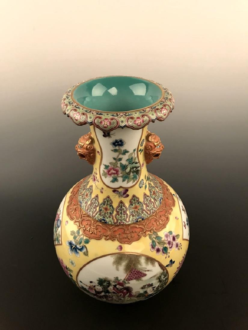 Fine Chinese Famille Rose Vase with Qianlong Mark - 10