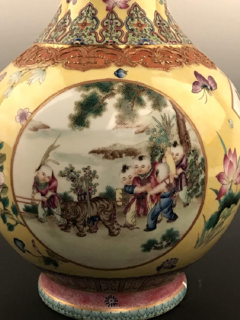 Fine Chinese Famille Rose Vase with Qianlong Mark - 2