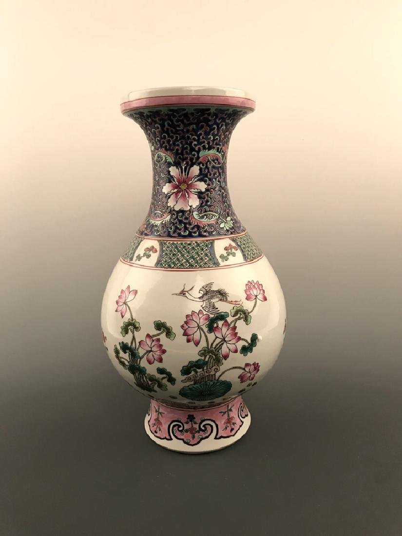 Chinese Famille Rose Vase with Kangxi Mark - 5