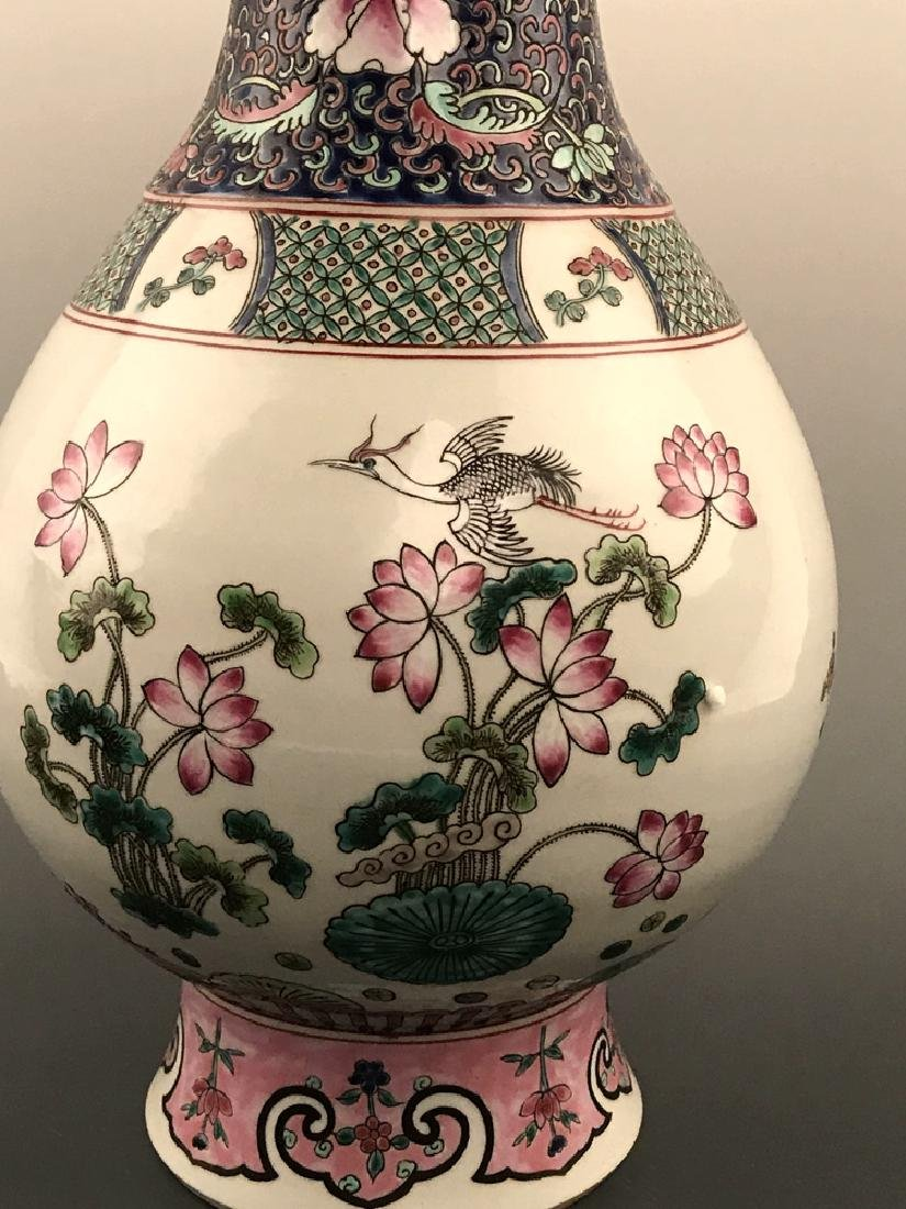 Chinese Famille Rose Vase with Kangxi Mark - 6