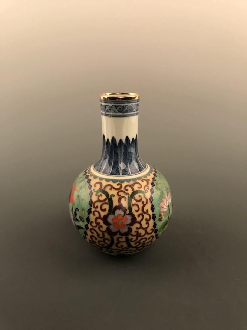 Chinese Cloisonne Vase with Fish Design - 8