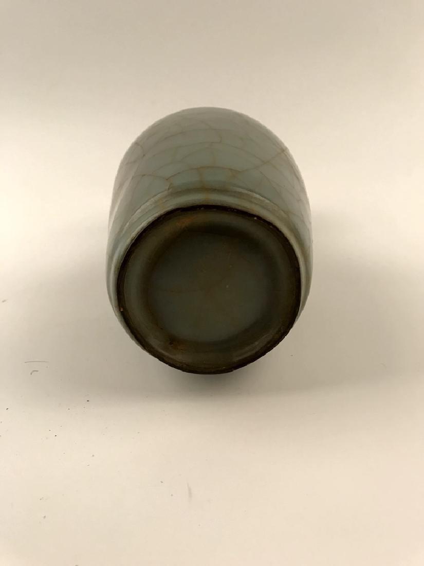 Chinese Celadon Glazed Vase with Handle - 5