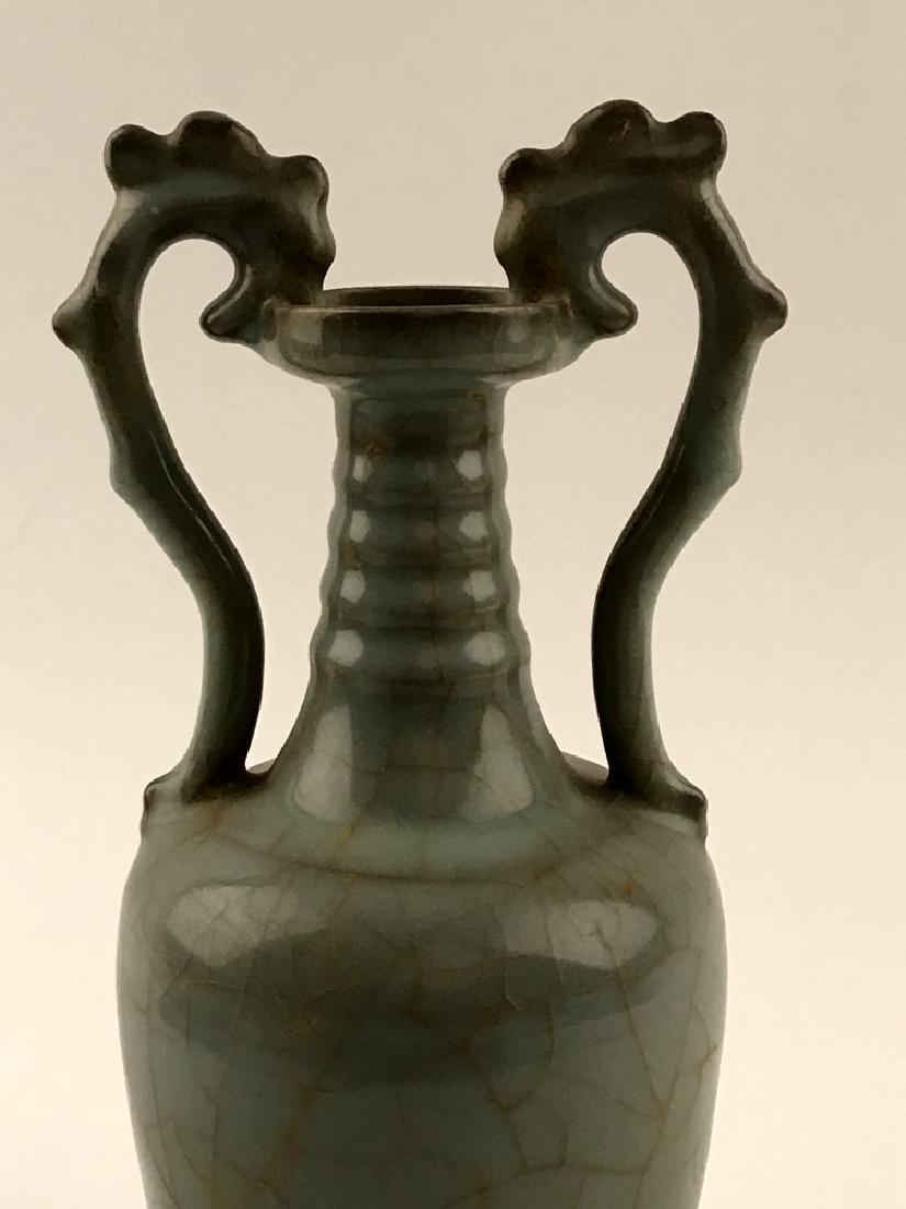 Chinese Celadon Glazed Vase with Handle - 6