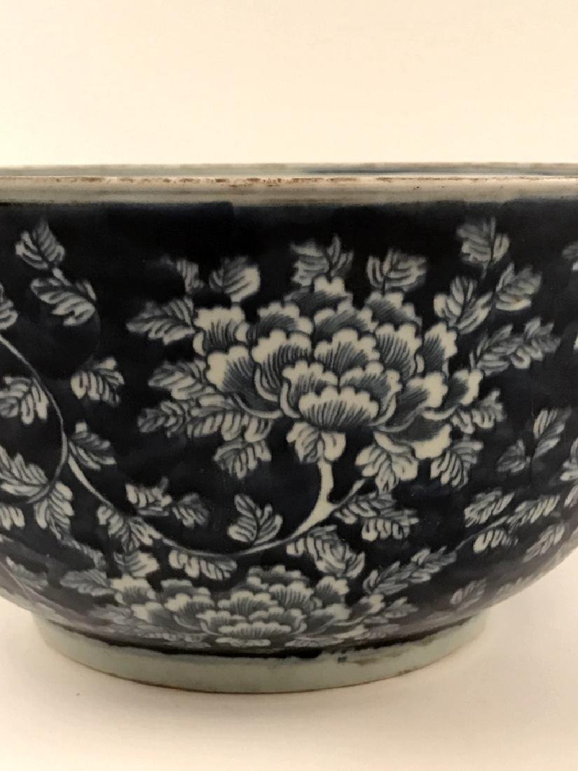 Chinese Blue and White Bowl with Kangxi Mark - 2