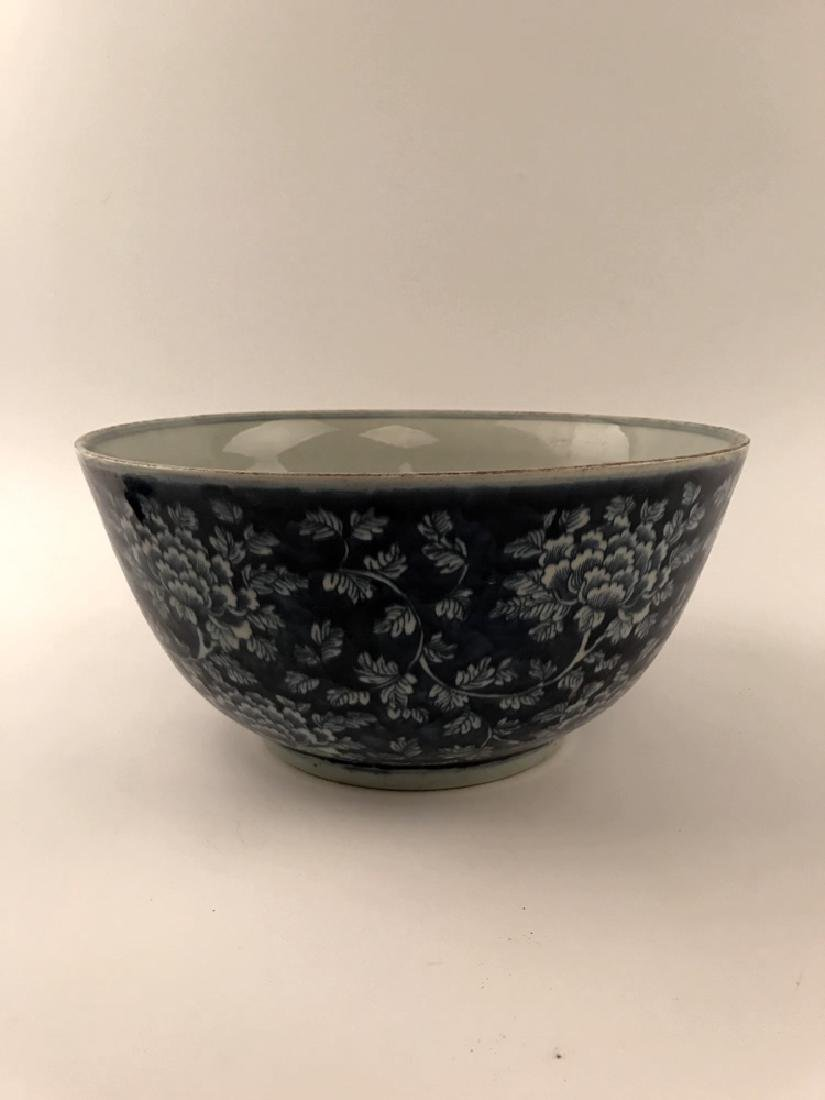 Chinese Blue and White Bowl with Kangxi Mark - 7