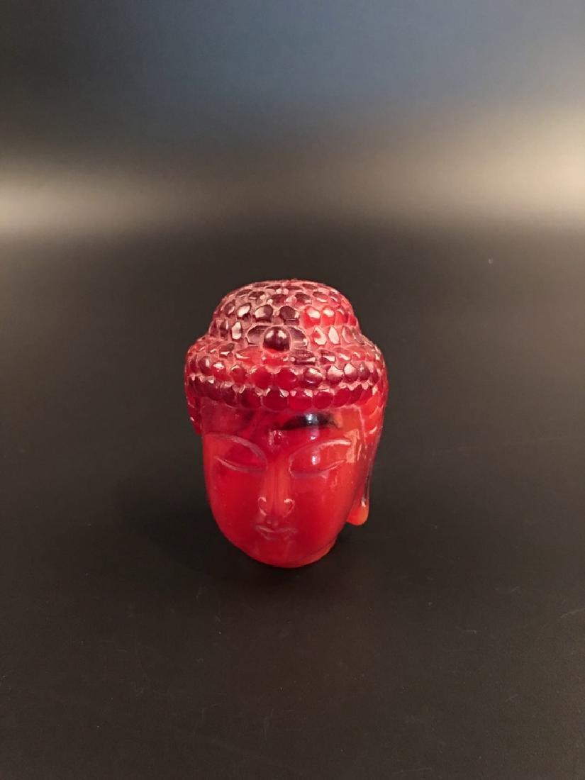 Chinese Amber Buddha Head
