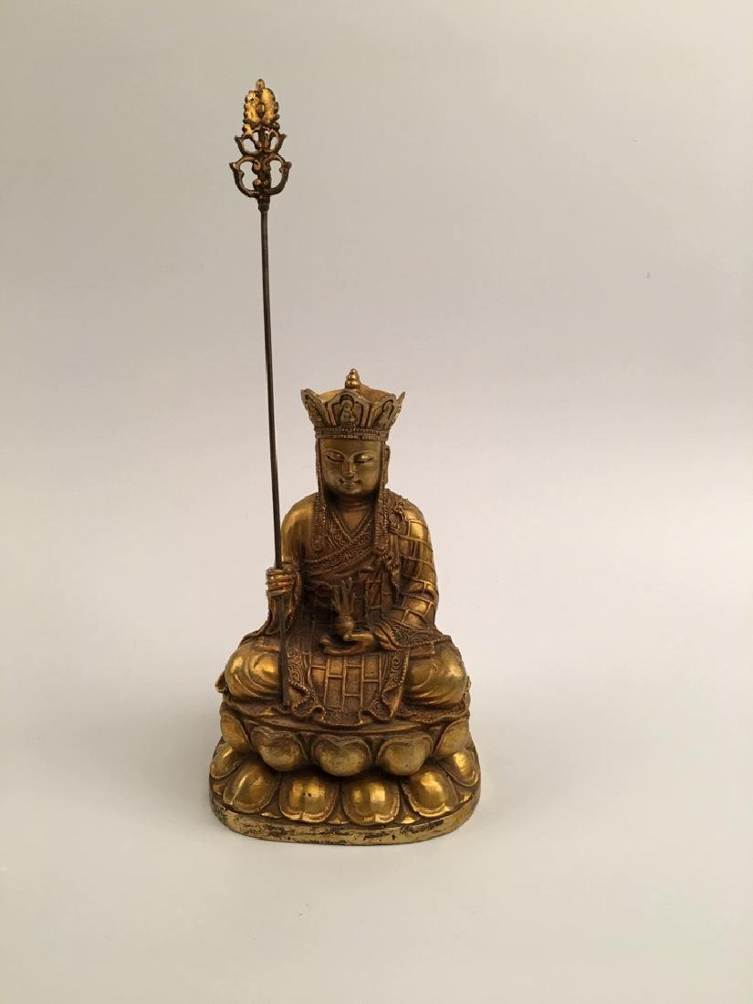 Chinese Gilt Bronze  Tang Seng San Zang Bodhisattva