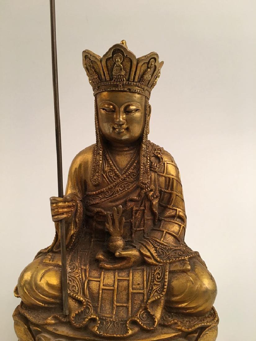 Chinese Gilt Bronze  Tang Seng San Zang Bodhisattva - 2