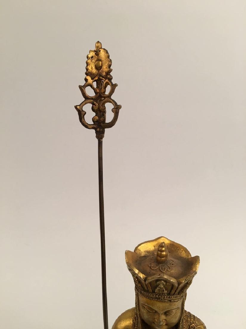 Chinese Gilt Bronze  Tang Seng San Zang Bodhisattva - 3