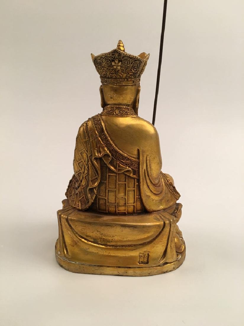 Chinese Gilt Bronze  Tang Seng San Zang Bodhisattva - 5