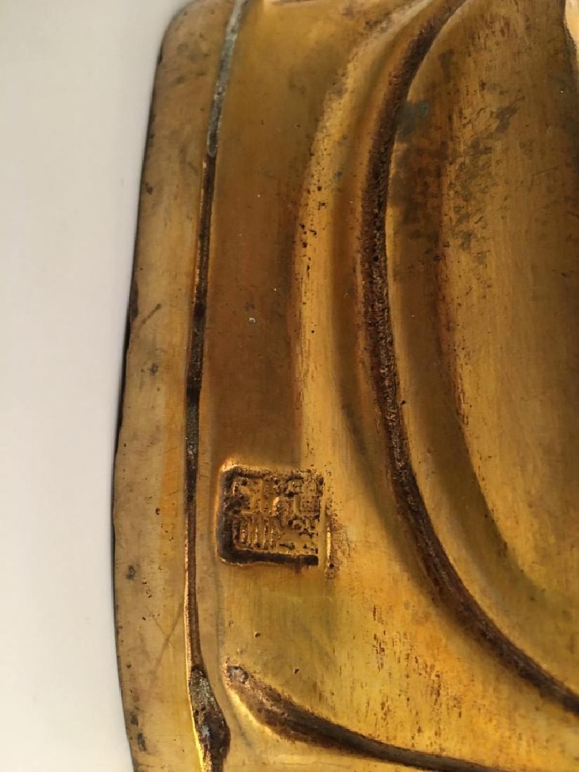 Chinese Gilt Bronze  Tang Seng San Zang Bodhisattva - 6