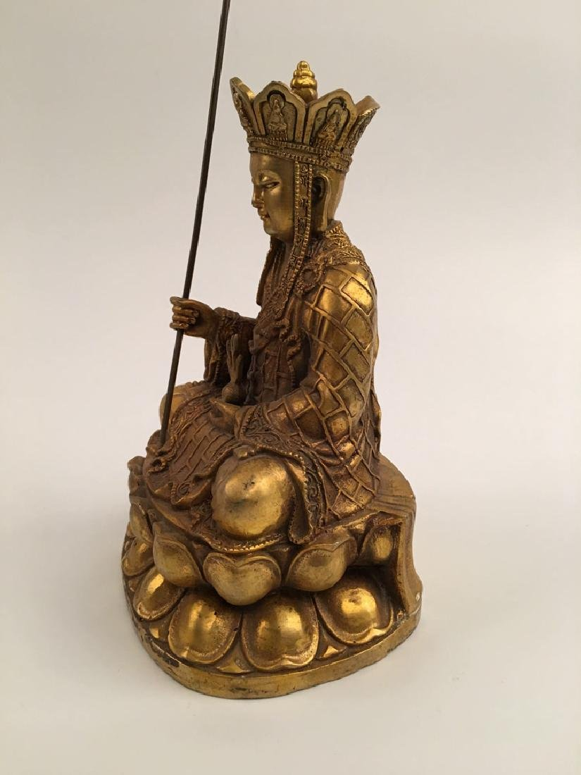 Chinese Gilt Bronze  Tang Seng San Zang Bodhisattva - 7