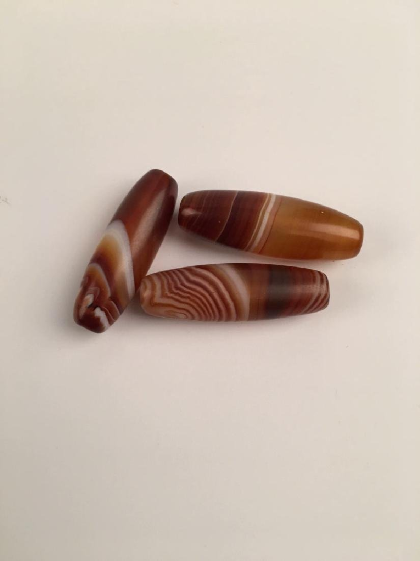 Three Pieces Agate Beads - 4