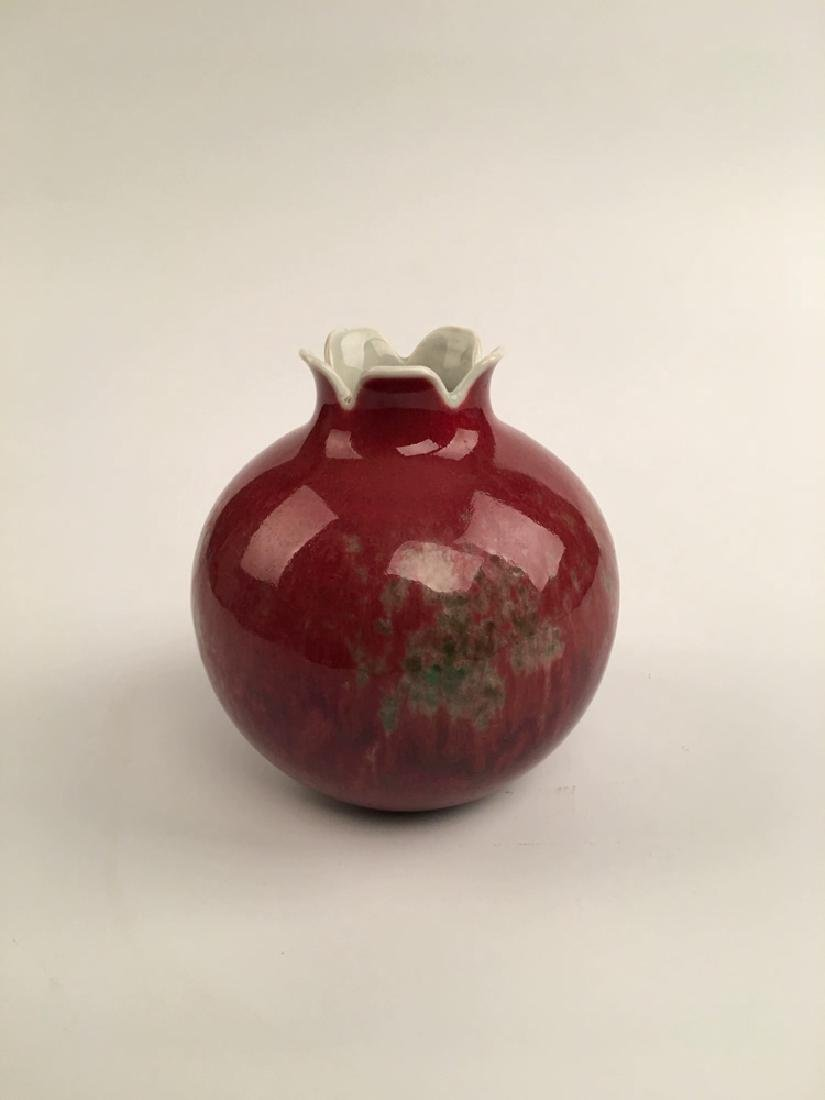 Chinese Red Glazed Ball Bottle