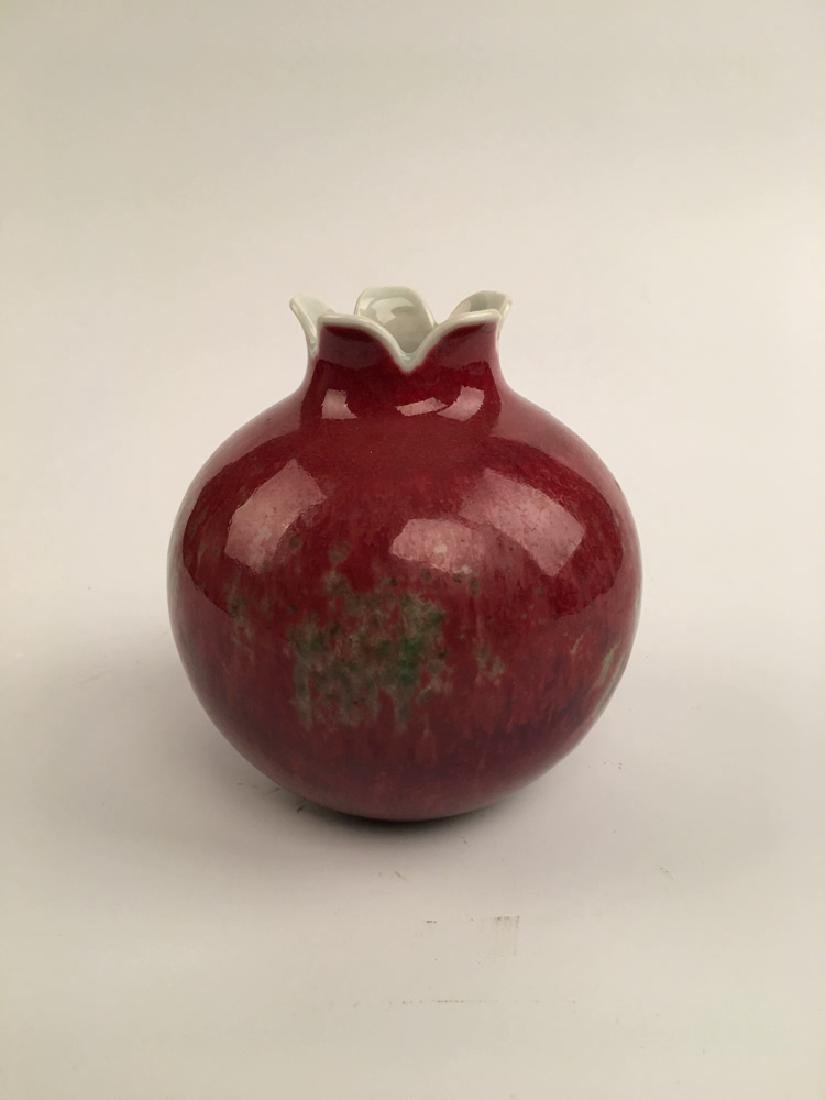 Chinese Red Glazed Ball Bottle - 2