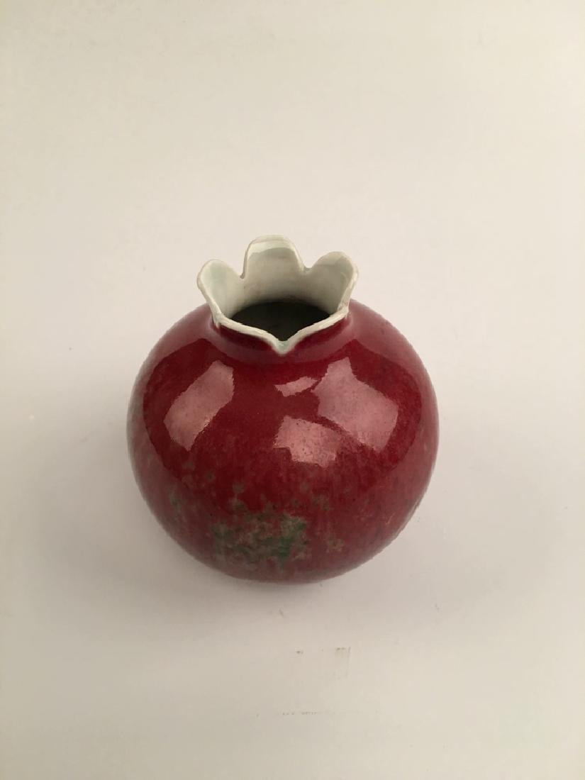 Chinese Red Glazed Ball Bottle - 3