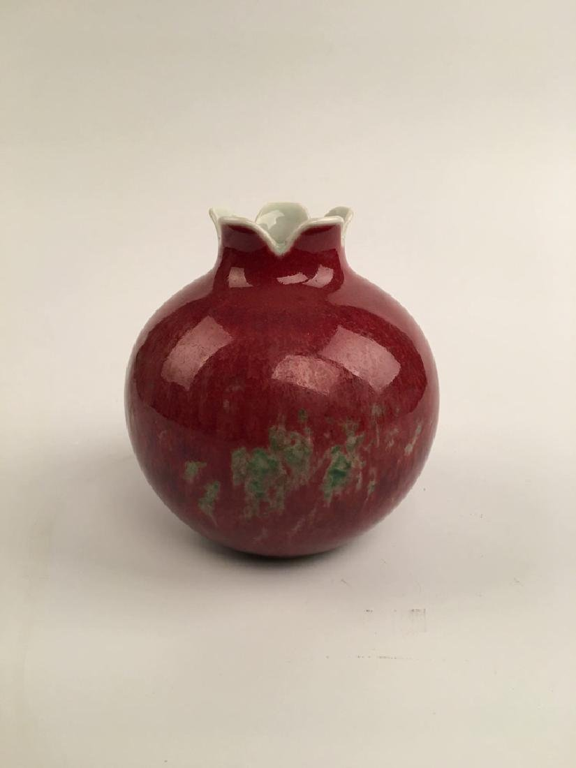 Chinese Red Glazed Ball Bottle - 4