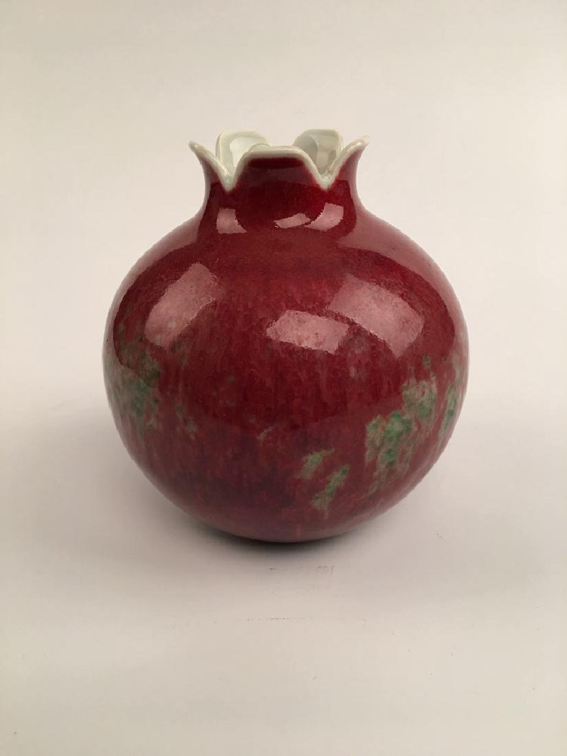 Chinese Red Glazed Ball Bottle - 6