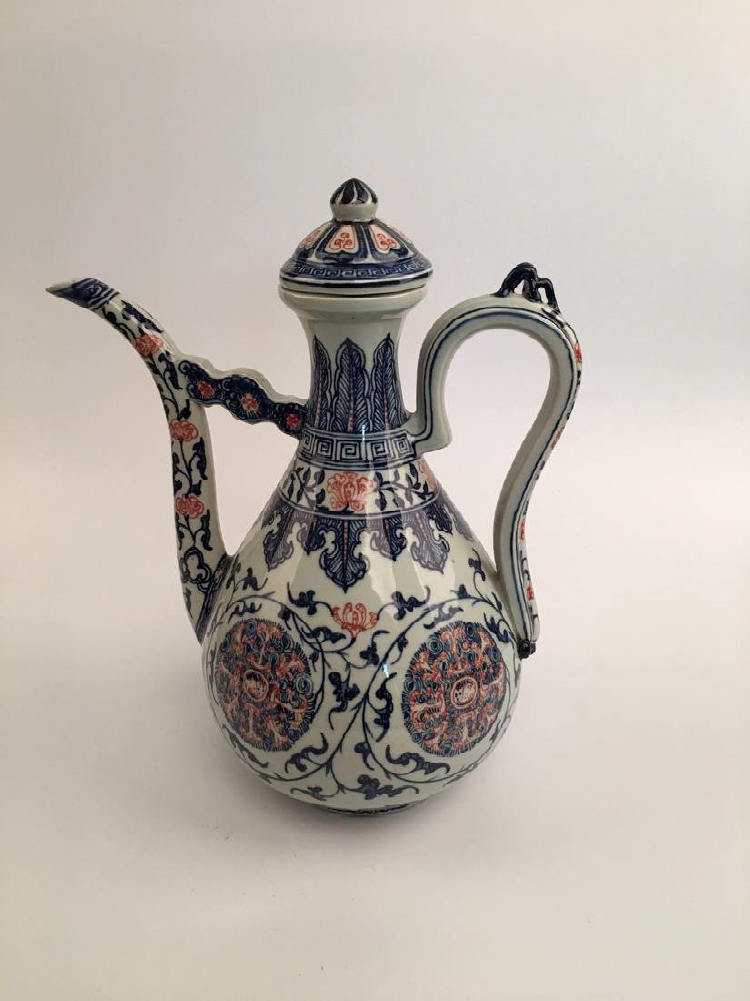 Chinese Blue and Red Porcelain Pitcher