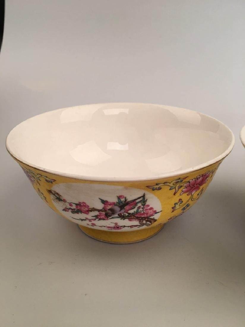 A Pair Famille Rose Flower Bowl - 2