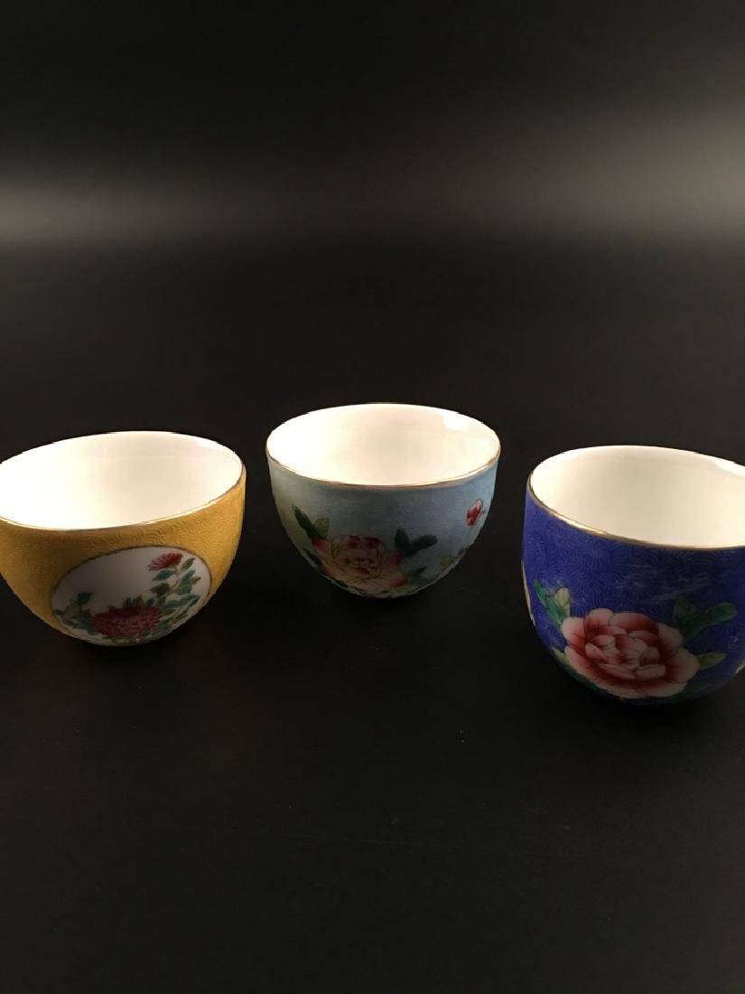 Fine Chinese Famille Rose Porcelain Wine Cup - 10