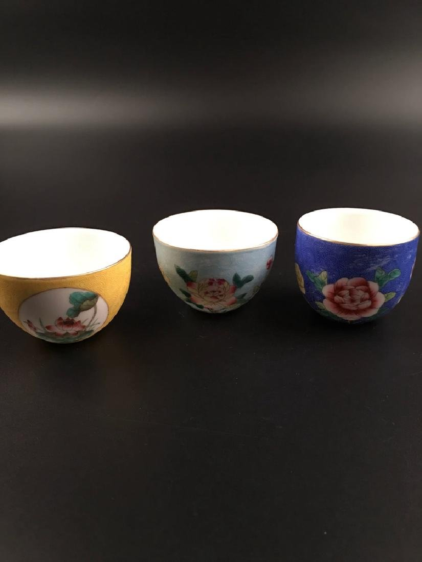 Fine Chinese Famille Rose Porcelain Wine Cup - 8
