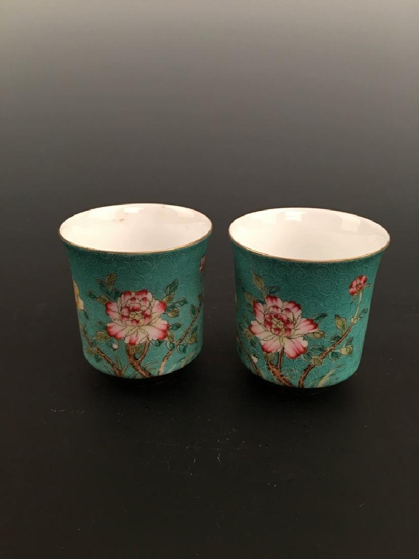 Chinese Famille Rose Porcelain Teacup