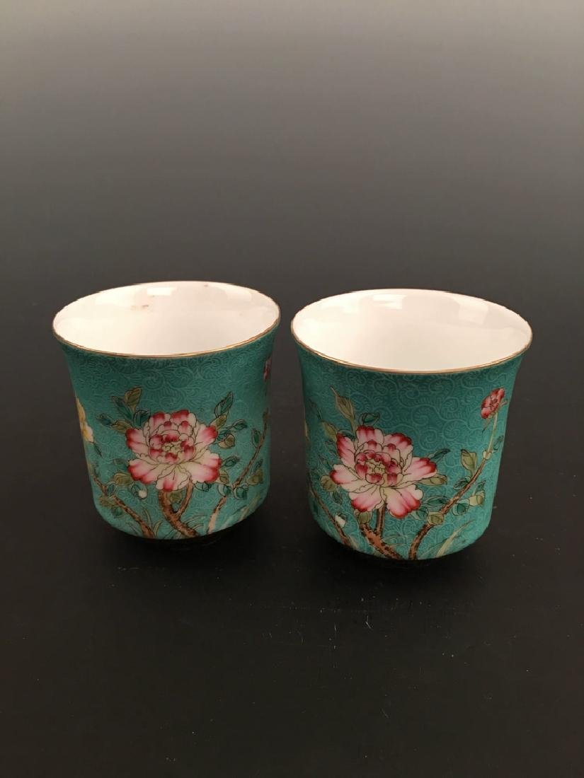 Chinese Famille Rose Porcelain Teacup - 6