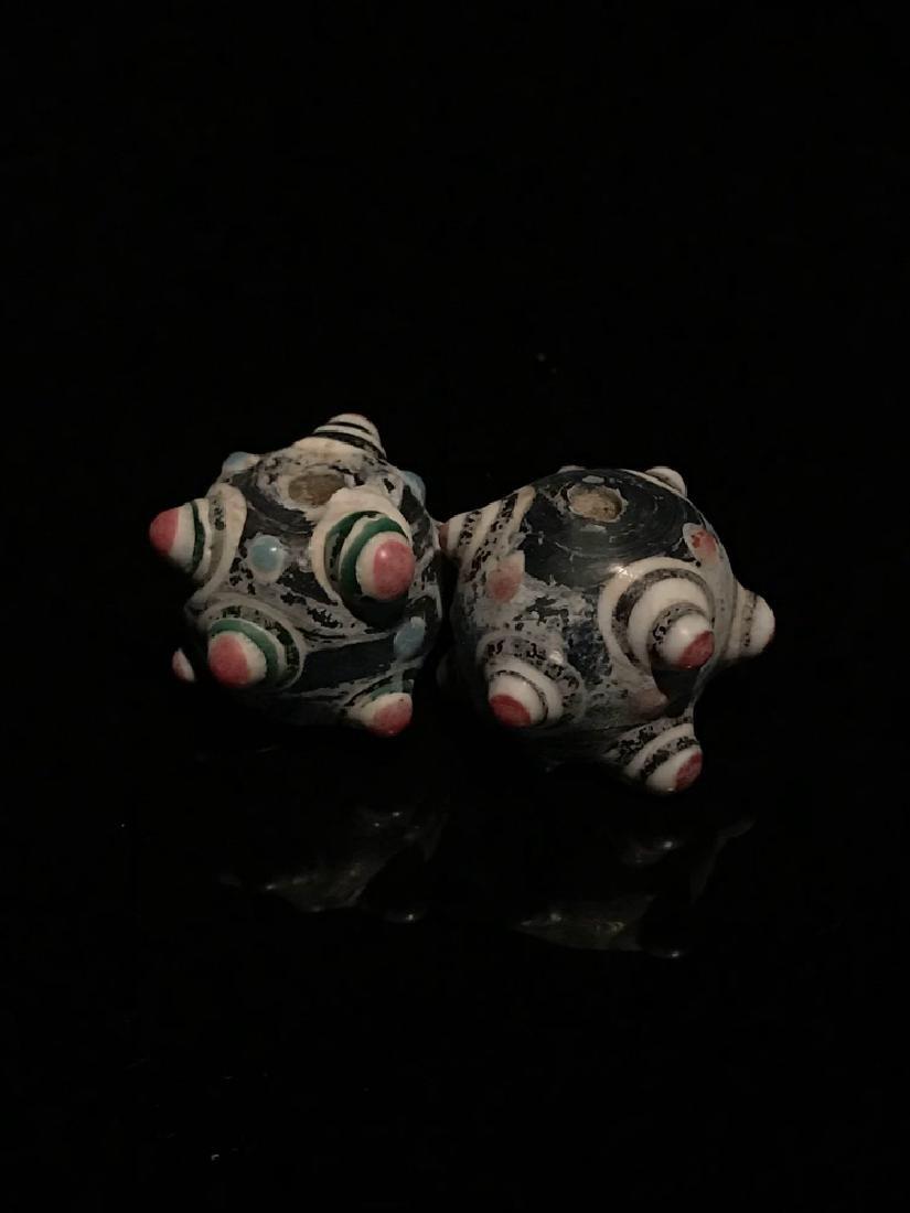 Two Chinese Han Pandora Glass Beads
