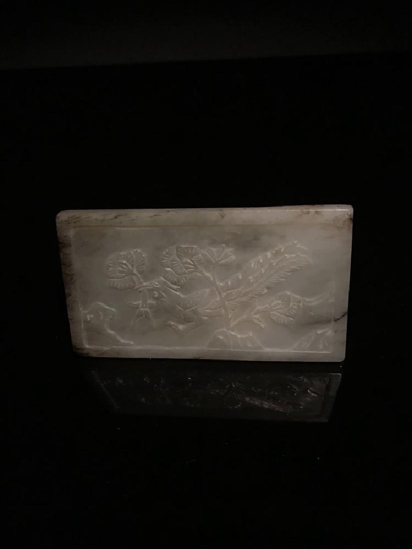 Chinese Ming White Jade Bird