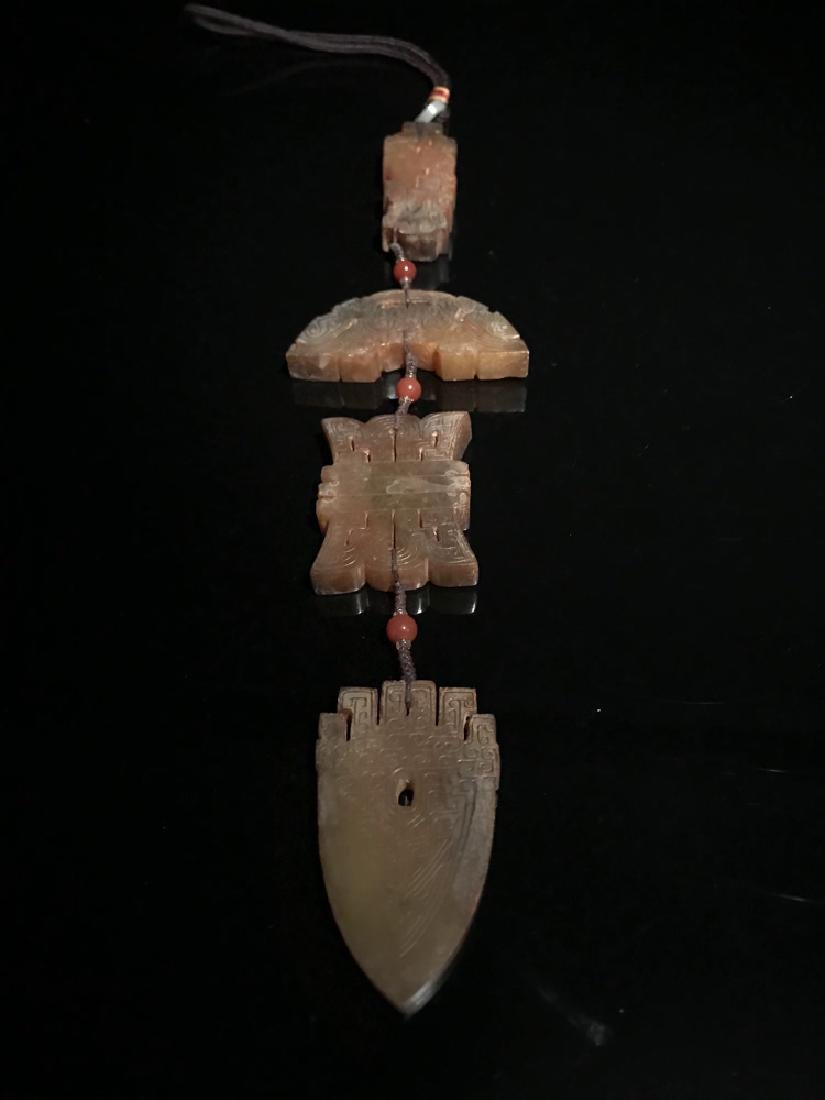 Four Piece Chinese Han Dynasty Jade Pendant