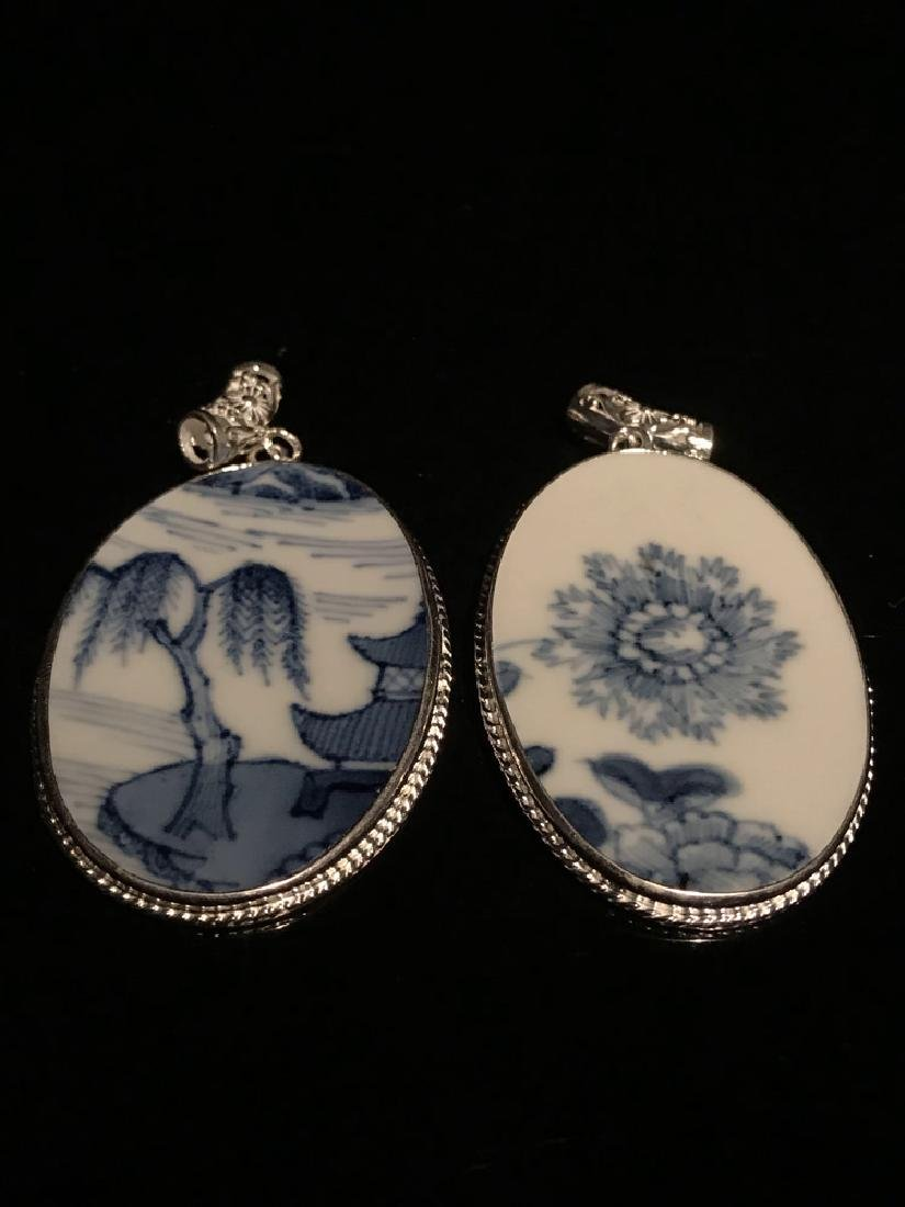 Two Piece Ming Blue and White Pendant