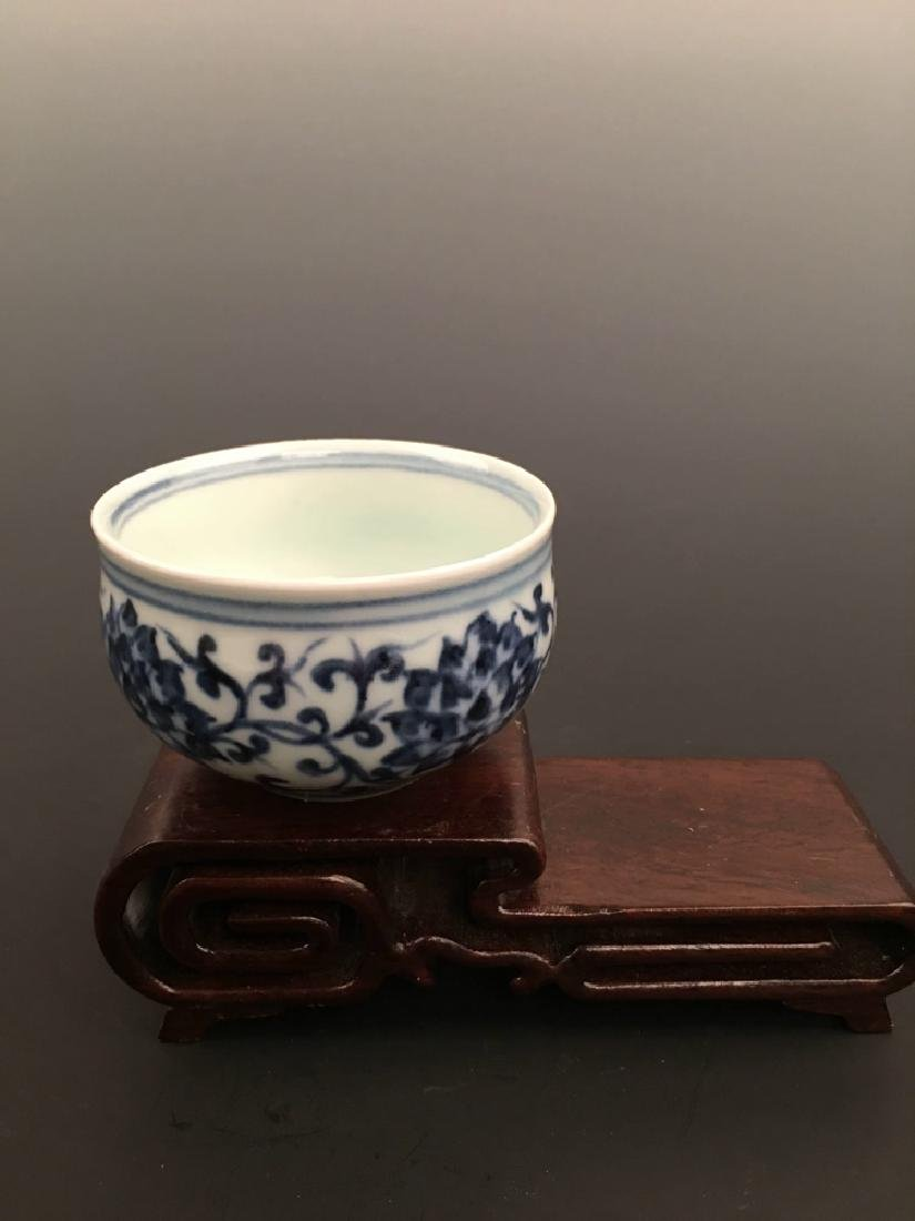 Chinese Blue and White Porcelain Tea Cup with Xuande