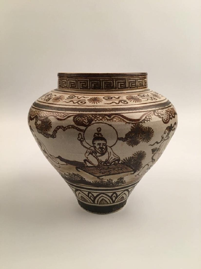 Chinese Brown Glazed Jar