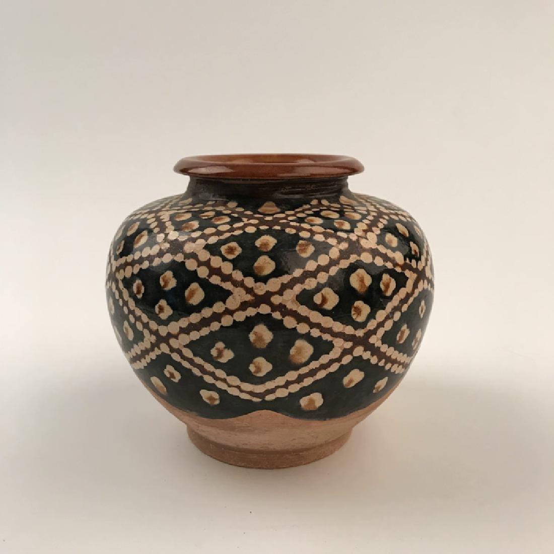Chinese Sancai Pottery Jar - 4