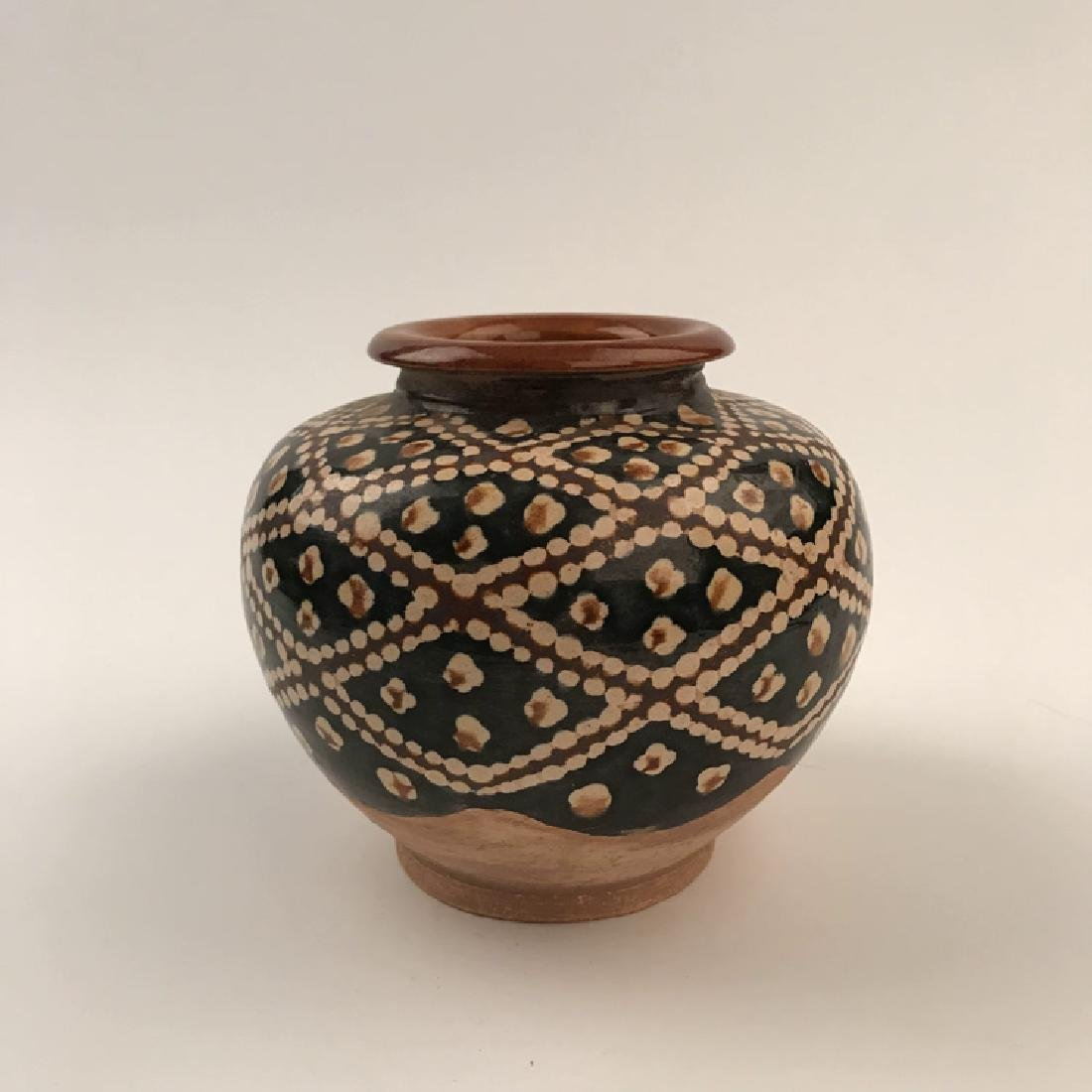 Chinese Sancai Pottery Jar - 6
